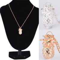Gold Plated Pineapple Tiny Fruit Pendant Charm Long Chain Necklace Jewelry RU