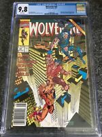 Wolverine #42  CGC 9.8 Rare Newsstand Variant Sabretooth Cable