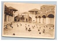Vintage Early 1900's RPPC Postcard Banff Canada Swimming Pool Bathers POSTED