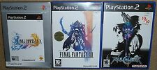 JOB LOT 3 SONY PLAYSTATION 2 PS2 BOXED GAMES Final Fantasy X XII Soul Calibur II