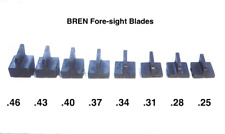 Set Of 8 Sight Blades .25 .28 .31 .34 .37 .40 .43 .46  Fore-sight Blade Set Mk3