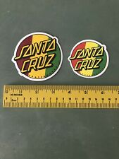 santa cruz skateboard sticker Lot Of 2
