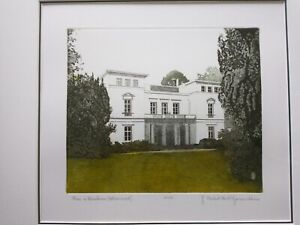Herbert GRUNWALDT (1928-2014) Rad. limit. Orig.: Das Katherinenhof-Haus, Blank.