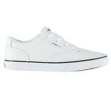 VANS Winston Childrens UK 13 EU 31 White Canvas Lace Up Low Top Sneaker Trainers