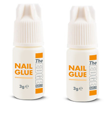 2 x THE EDGE NAIL GLUE 3g gram tips super strong false adhesive