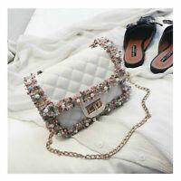 Women Handbag Shoulder Messenger Tote Crossbody Bags Purse Bag Pearl Flower