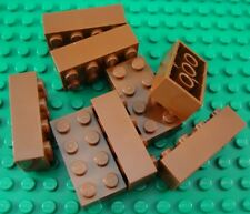New LEGO Lot of 8 Reddish Brown 2x4 Basic Building Brick Pieces