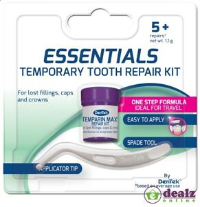 Dentek Essentials Temporary Tooth Repair Kit For Lost Fillings Caps Crowns