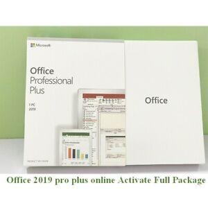 Microsoft Office Professional Plus 2019 for Windows 10  Lifetime License