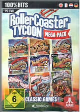 PC DVD JUEGO ROLLERCOASTER TYCOON 1-3 + Todas Add-Ons Megapack gana 7/8/10 NEU