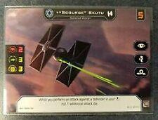 """Star Wars X-Wing /""""Scourge/"""" Skutu Imperial Pilot Alternate Art Promo Card"""