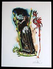 SALVADOR DALI lithographie TAROT serie  HAND SIGNIERT ARCHES PAPIER