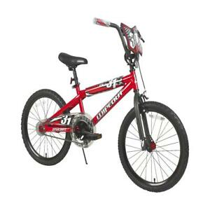 20 Inch Wipeout Boys BMX Bike with Front Hand Brake, Red
