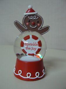 Hallmark GINGERBREAD MAN WATER GLOBE Sprinkle the Joy Merry Christmas Decoration
