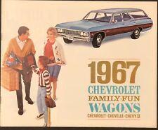 Original! 1967 Chevrolet Station Wagons Sales Brochure!   Impala Chevelle Nova