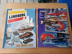 2 LINDBERG Model Kit Catalogs 1981 & 1998
