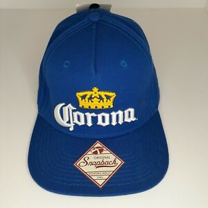 Vintage Corona Extra Beer Snapback Cap Hat Blue Gold New with Tags