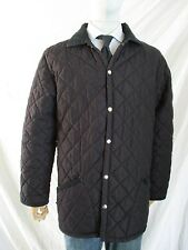 HUSKY black quilted nylon corduroy made England barn field car coat jacket 42