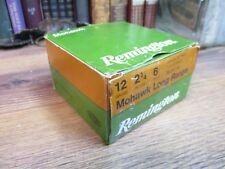 REMINGTON SHOTGUN SHELL BOX EMPTY MOHAWK long range 12 GAUGE shot original no 6