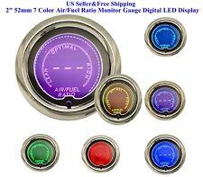 """2"""" 52mm 7 Color Auto Air/Fuel Ratio Monitor Elec Gauge Digital LED Display Car"""
