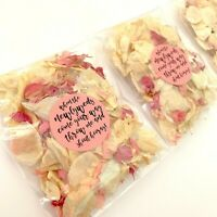 PINK Ivory Petal Natural Biodegradable Wedding Confetti Dried Petal Bag PACKETS