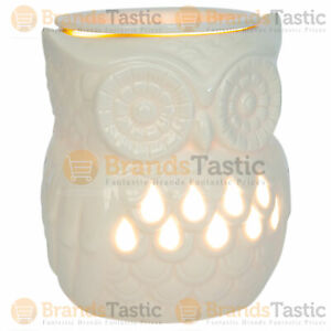 1 X AIRPURE OWL ELECTRIC WAX MELTER HOLDER BURNER WITH BACKLIGHT