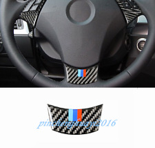 Real Carbon Fiber Steering Wheel Decor Cover Trim For BMW 5 Series E60 2005-2010