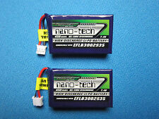 2 TURNIGY NANO-TECH 450mAh 2S 7.4V 65C 130C LIPO BATTERY UMX BLADE 130X MCPX BL