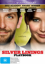 SILVER LININGS PLAYBOOK New Dvd + UV BRADLEY COOPER JENNIFER LAWRENCE ***