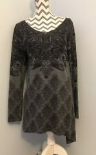 Joe Browns Grey Tunic Top With Floral Pattern.Size 14