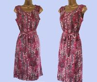 New Wh*te Stuff Purple Plum Pink Silver Grey Vintage Style Tea Sun Dress 8-18