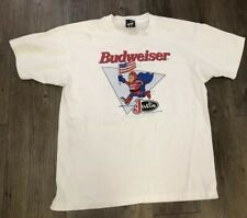 VTG 90's Bud Man Justin Boot Race Prescott Frontier Days T Shirt Size L 50/50