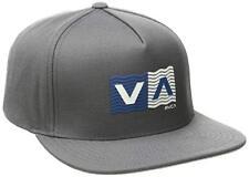 350575d4 RVCA Wave Box - Mens Snapback Hat (NEW) Smoke Grey 5 Panel Cap VA