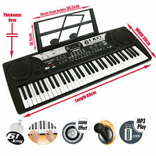 More details for 61 keys electronic teaching keyboard digital music piano instrument & microphone