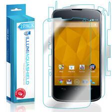 2x iLLumi AquaShield HD Front Screen + Back Panel Protector for Google Nexus 4