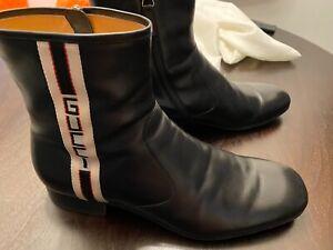 Gucci Bonnie Stripe men shoes size 13, black leather. Worn twice.