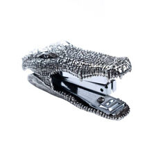 More details for pewter stapler crocodile office accessory.