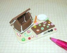 "Miniature Christmas ""Gingerbread House in Progress"" Board: DOLLHOUSE 1:12"