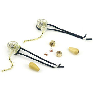 2PCS Ceiling Fan Switches Fan Pull-chain Operator Lamp Switch Replacement Part
