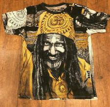 Baba Rasta Hindu Yoga india Hippy Dj Psy Trance Shiva Party Goa Music T-Shirt  L