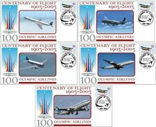OLYMPIC AIRLINES CENTENARY OF FLIGHT SET OF 5 COVERS