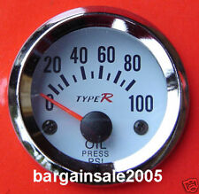 "Type R 2""/ 52MM Oil Press PSI Gauge Meter HQ tacho"