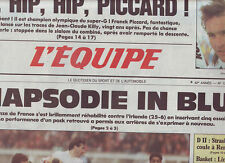 journal  l'equipe 22/02/88 RUGBY TOURNOI FRANCE IRLANDE  NOAH PICCARD