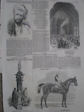 Noor Gool chief of Halimzyes Pashtun Mohmand tribe India 1852 old print