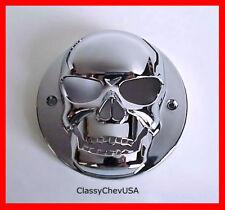 EX Small chrome plastic Skull Tail Light Lense Cover 1P