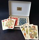 Vntg 1950s Double Pack Fournier Playing Cards CS de TEJADA Design Spain Boxed