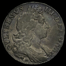 More details for 1698 william iii early milled silver decimo half crown