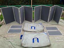 More details for nimlok modular 4 panel display/poster board x 2 plus 4 smaller panels in cases