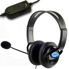 DELUXE PRO HEADSET HEADPHONES MICROPHONE WITH MIC VOLUME CONTROL FOR PS4 XBOX PC