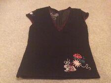 Karen Millen ladies black embroidered top Karen Millen size 2